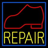 Red Boot Yellow Repair Neon Sign