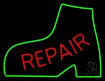 Red Repair Green Boot Neon Sign