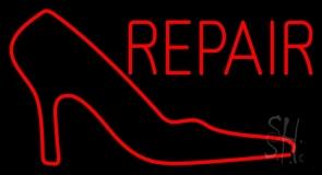 Red Sandal Logo Repair Neon Sign