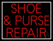Red Shoe and Purse Repair Neon Sign