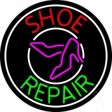 Red Shoe Green Repair With Sandals Neon Sign