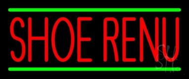 Red Shoe Renu Green Line Neon Sign