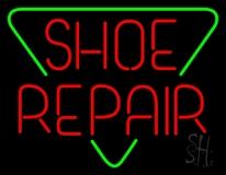 Red Shoe Repair Block Neon Sign