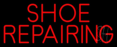Red Shoe Repairing Neon Sign