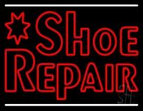 Red Shoe Repair Neon Sign