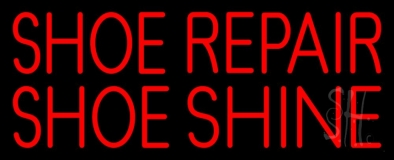 Red Shoe Repair Shoe Shine Neon Sign