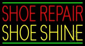 Red Shoe Repair Yellow Shoe Shine Neon Sign