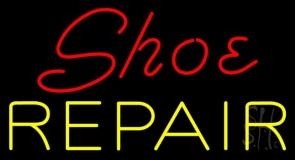 Red Shoe Yellow Repair Neon Sign