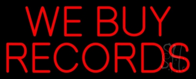 Red We Buy Records LED Neon Sign