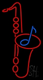 Saxophone Logo 1 LED Neon Sign