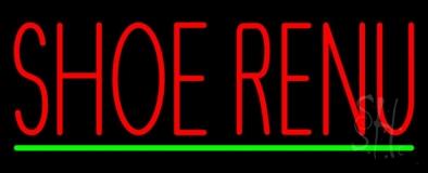 Shoe Renu Green Line Neon Sign