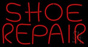 Shoe Repair Red Neon Sign