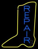 Vertical Shoe Blue Repair Neon Sign