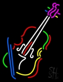 Violin With Logo LED Neon Sign