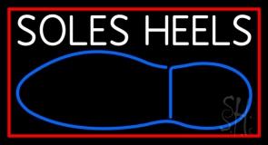 White Soles Heels Neon Sign