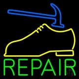 Yellow Shoe Green Repair Neon Sign