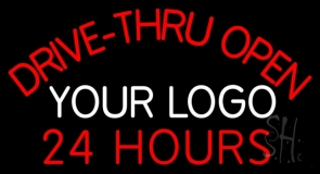 Custom Drive Thru Open 24 Hours Neon Sign