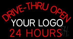 Custom Drive Thru Open 24 Hours LED Neon Sign