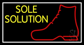 Yellow Sole Solution Neon Sign