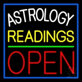 Astrology Readings Open And Green Line LED Neon Sign