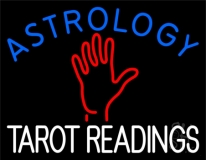 Blue Astrology Red Tarot Readings Neon Sign