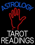 Blue Astrology White Tarot Readings LED Neon Sign