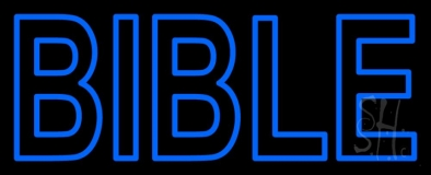 Blue Bible LED Neon Sign