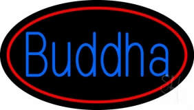 Blue Buddha Neon Sign