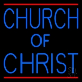 Blue Church Of Christ LED Neon Sign