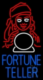 Blue Fortune Teller With Logo Neon Sign