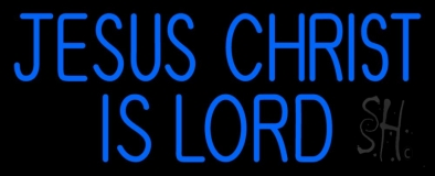 Blue Jesus Christ Is Lord LED Neon Sign