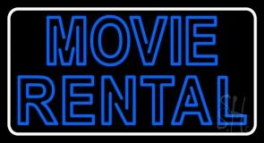 Blue Movie Rental Neon Sign