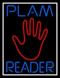 Blue Palm Reader White Border Neon Sign