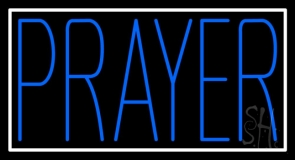 Blue Prayer Neon Sign