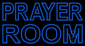 Blue Prayer Room Neon Sign