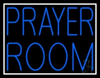 Blue Prayer Room With Border Neon Sign
