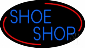 Blue Shoe Shop Neon Sign