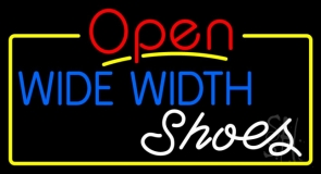 Blue Wide Width White Shoes Open Neon Sign
