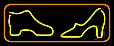Boot Sandal Orange Border Neon Sign