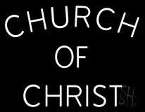 Church Of Christ Block LED Neon Sign