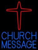 Custom Blue Church With Logo Neon Sign