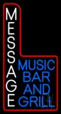 Custom Blue Music Bar And Grill LED Neon Sign