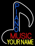 Custom Blue Pianos Vertical Red Music Neon Sign