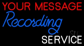 Custom Blue Recording White Service Neon Sign