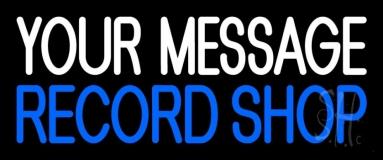 Custom Blue Record Shop 1 Neon Sign