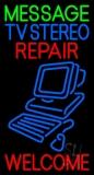 Custom Blue Tv Stereo Red Repair Neon Sign