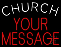 Custom Church White Neon Sign