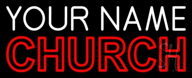 Custom Double Stroke Church Neon Sign