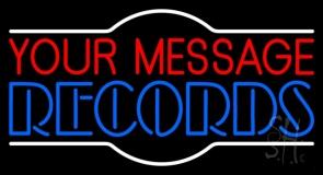 Custom Double Stroke Records Neon Sign