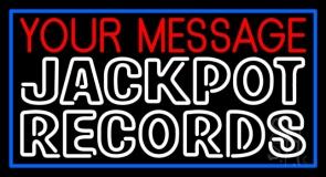 Custom Double Stroke White Records Block Neon Sign